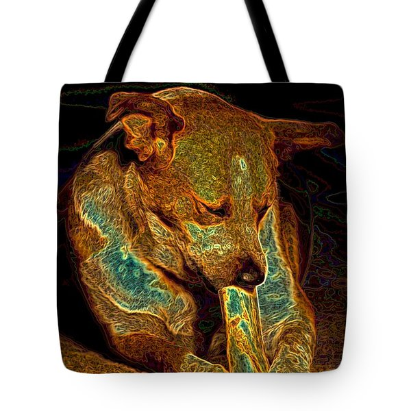 Delicious Bone Tote Bag by One Rude Dawg Orcutt
