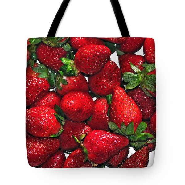 Deliciously Sweet Strawberries Tote Bag by Kaye Menner