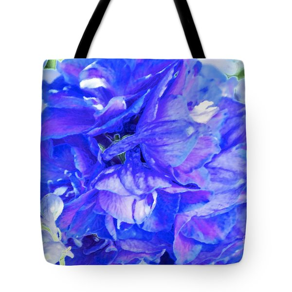 Delphinium Blue Tote Bag by Gwyn Newcombe