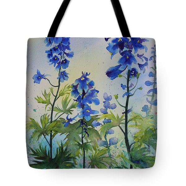 Delphiniums Tote Bag