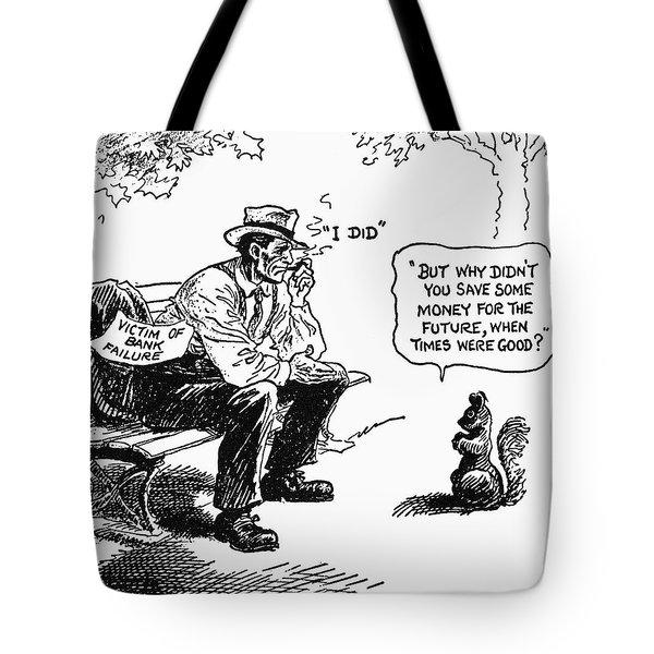 Depression Cartoon 1932 Tote Bag by Granger