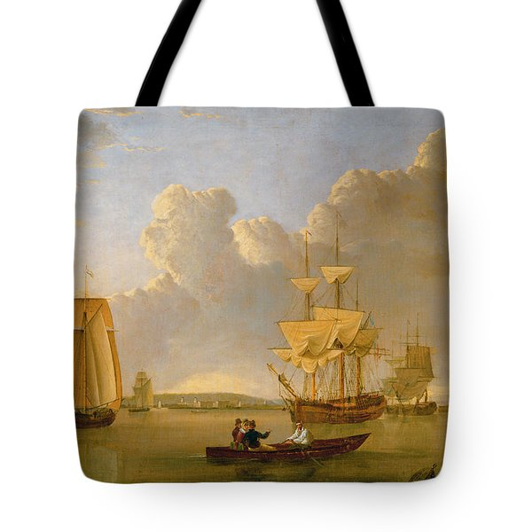 Deptford On Thames With A Distant View Of Greenwich Tote Bag by John of Hull Ward