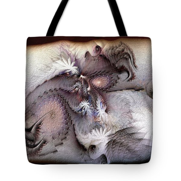 Tote Bag featuring the digital art Derailing Destiny by Casey Kotas