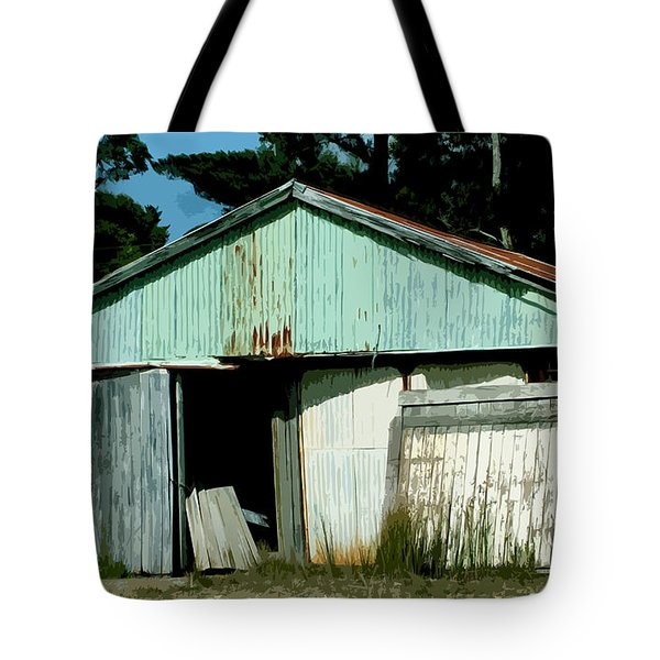 Derilict Building Tote Bag by Phill Petrovic