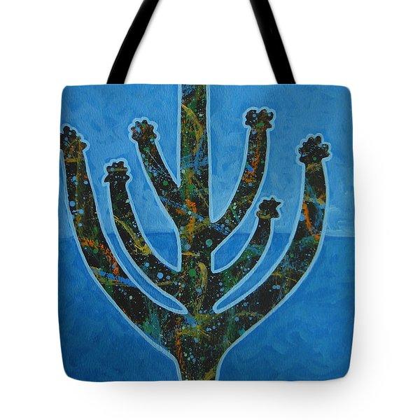 Desert Blue Tote Bag by Lance Headlee