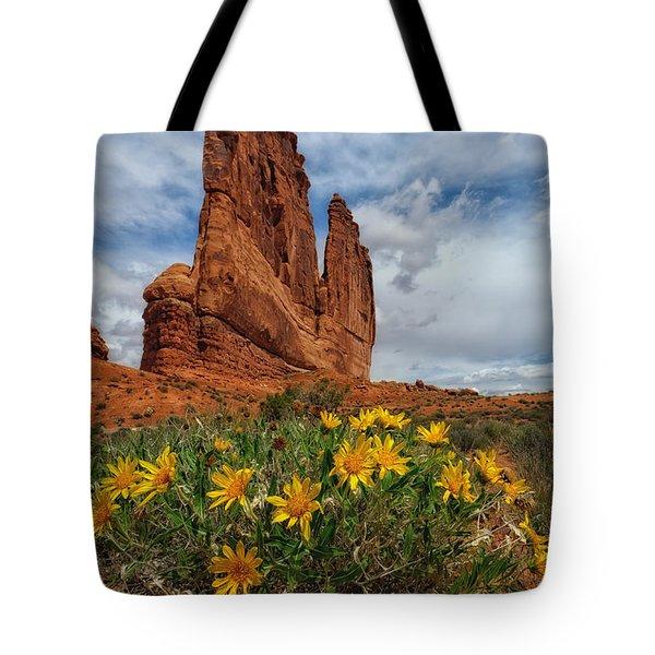 Desert Flowers Tote Bag by Charlie Choc