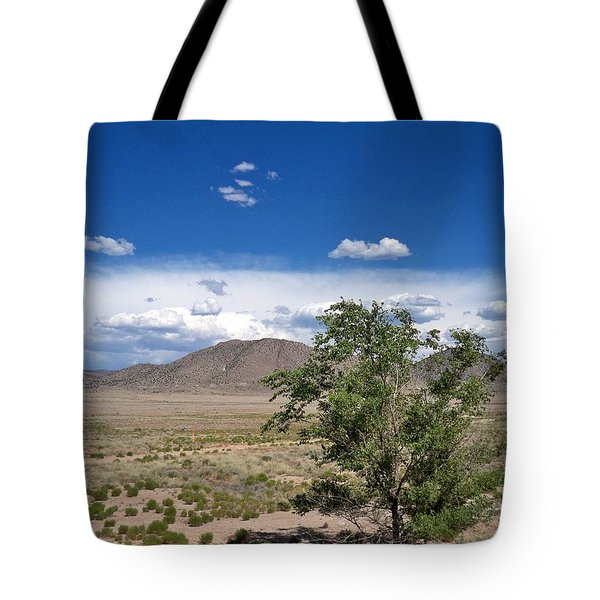 Desert In New Mexico Tote Bag by Rick Frost