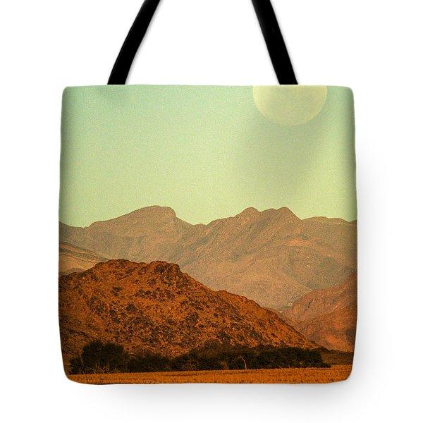 Desert Moonrise Tote Bag