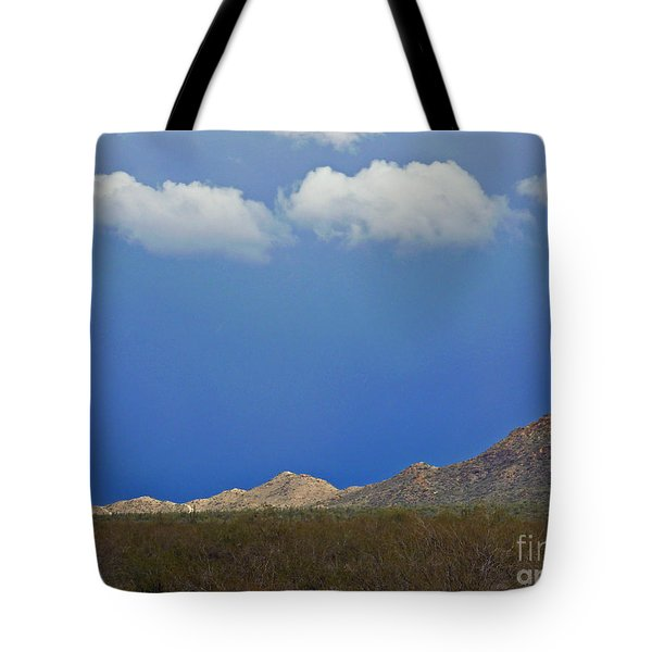 Desert Rain Tote Bag by Methune Hively