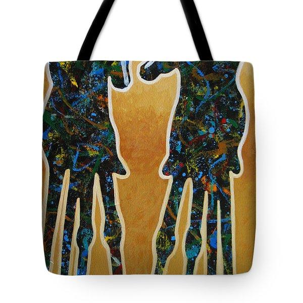 Desert Riders Tote Bag by Lance Headlee