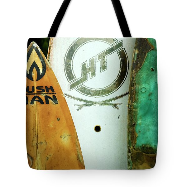 Detail Surfboard Fence Tote Bag by Bob Christopher