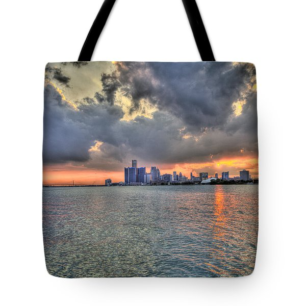 Detroit Sunset  Tote Bag