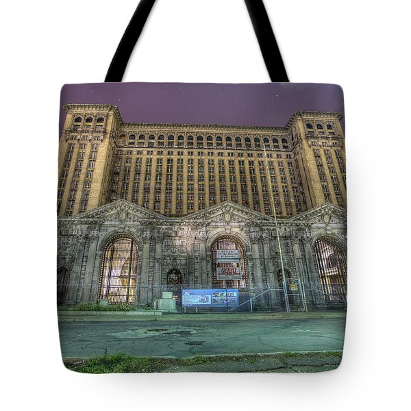 Detroit's Michigan Central Station - Michigan Central Depot Tote Bag