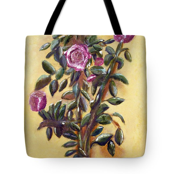 Dew Upon The Roses Tote Bag by Margaret Harmon