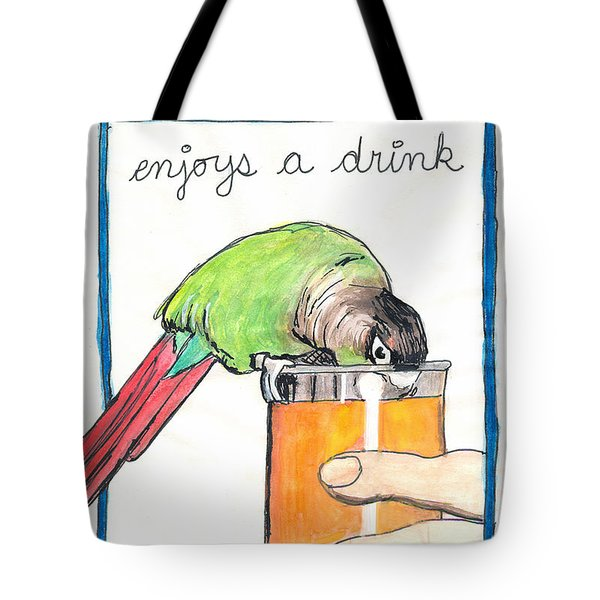 Dexter Enjoys A Drink Tote Bag