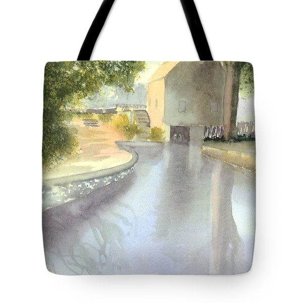 Dexter Grist Mill Reflections Tote Bag by Joseph Gallant