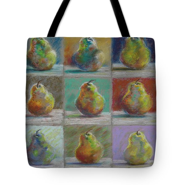 Tote Bag featuring the pastel  Pears by Bonnie Goedecke