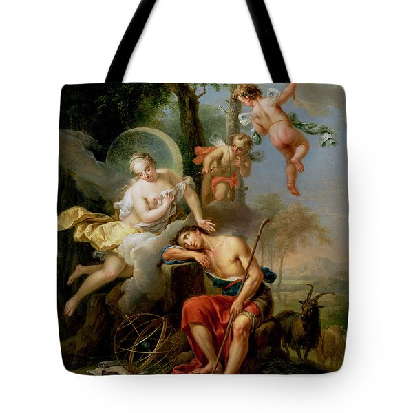 Diana And Endymion Tote Bag by Frans Christoph Janneck