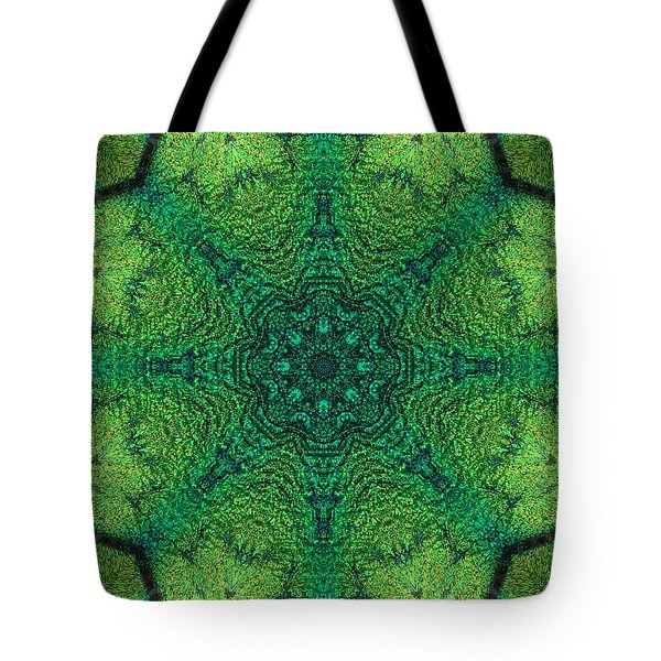 Dichro Green Tote Bag by Kathy Sheeran