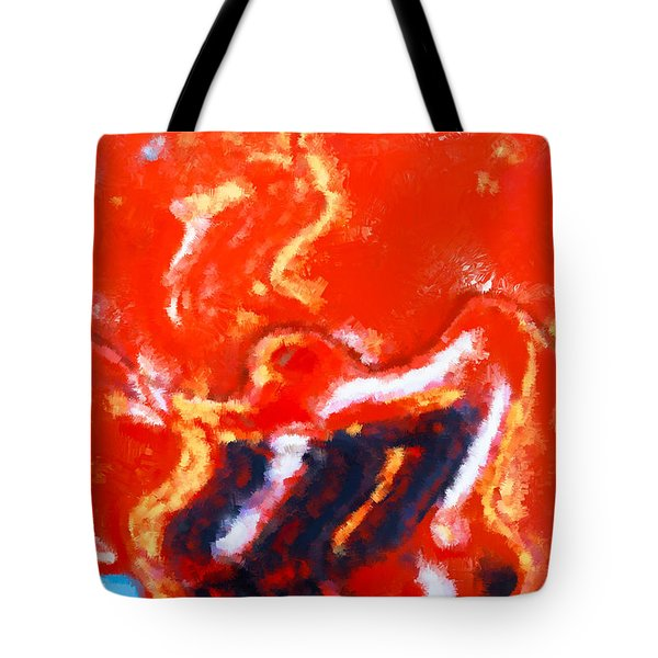 Digital Abstract Painting Tote Bag by Tom Gowanlock