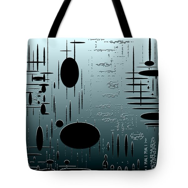 Digital Dimension In Aquamarine Series Image 1 Tote Bag