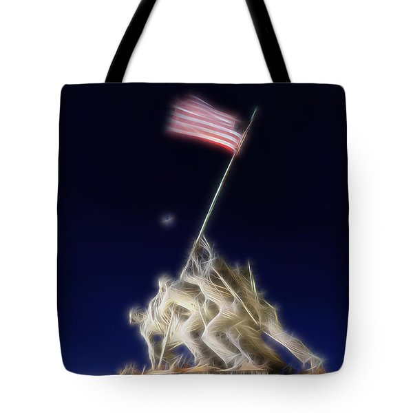 Digital Lightening - Iwo Jima Memorial Tote Bag