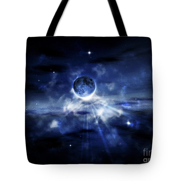 Digitally Generated Image Of A Planet Tote Bag by Vlad Gerasimov