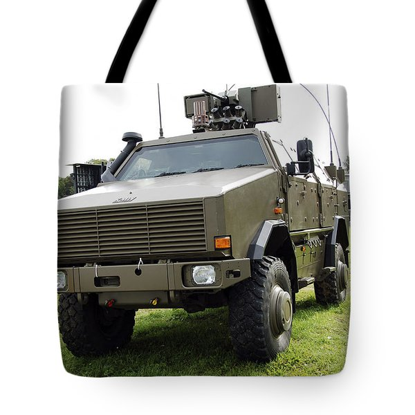 Dingo II Vehicle Of The Belgian Army Tote Bag by Luc De Jaeger