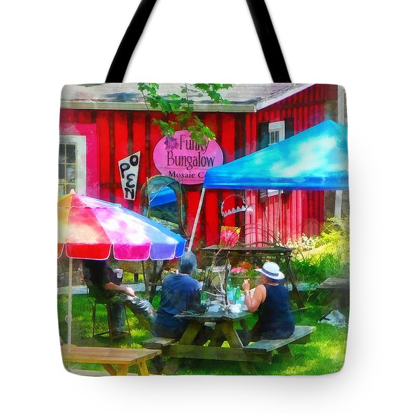 Dining Al Fresco Tote Bag by Susan Savad