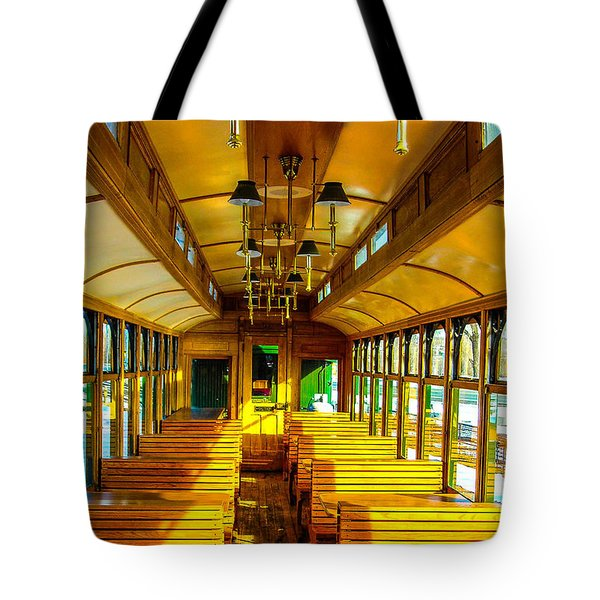 Tote Bag featuring the photograph Dining Car by Shannon Harrington