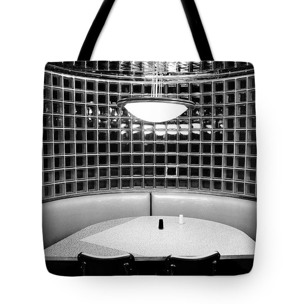 Dining In Black And White Tote Bag by David Lee Thompson