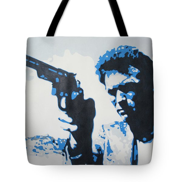 Dirty Harry Tote Bag by Luis Ludzska
