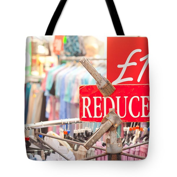 Discount Clothing Tote Bag by Tom Gowanlock