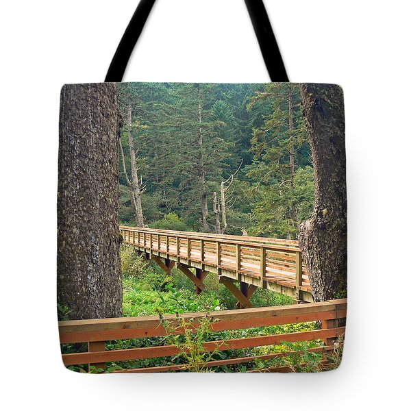 Discovery Trail Bridge Tote Bag by Pamela Patch