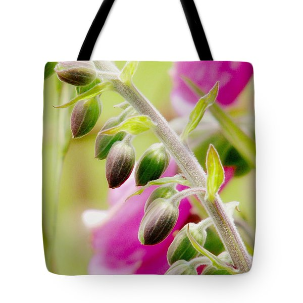 Discussing When To Bloom Tote Bag by Rory Sagner