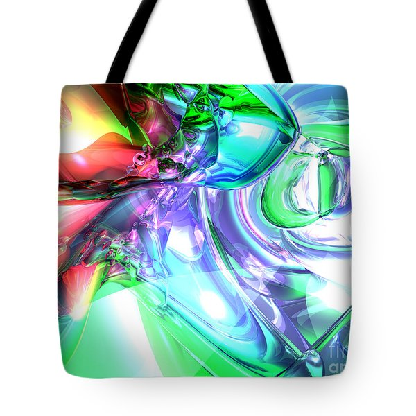 Disorderly Color Abstract Tote Bag by Alexander Butler
