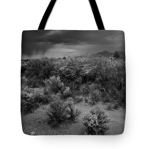 Tote Bag featuring the photograph Distant Shower by Ron Cline