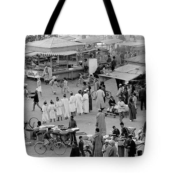 Djemaa El Fna Marrakech Morocco Tote Bag by Tom Wurl