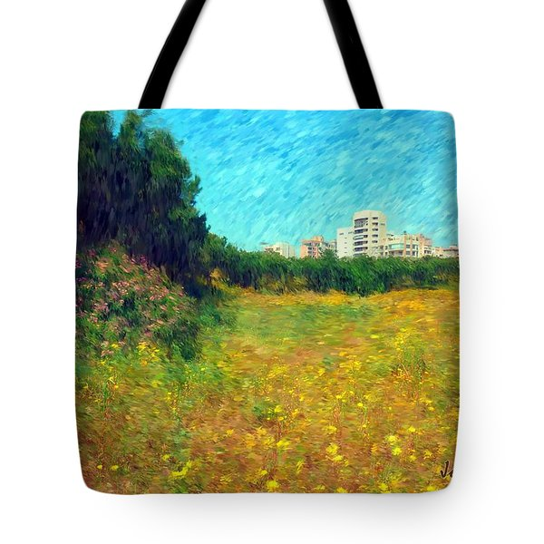 Tote Bag featuring the photograph Do-00479 Bois Des Pins - Impressionist by Digital Oil