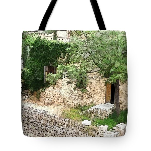 Tote Bag featuring the photograph Do-00486 Old House From Citadel by Digital Oil