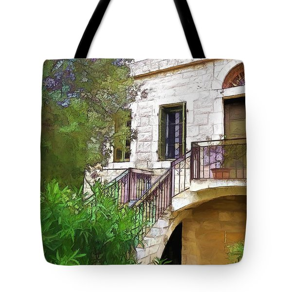 Tote Bag featuring the photograph Do-00490 Balcony Of Old House by Digital Oil