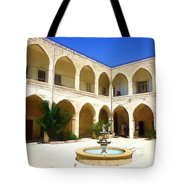 Tote Bag featuring the photograph Do-00494 Inside Court Saidet El-nourieh by Digital Oil