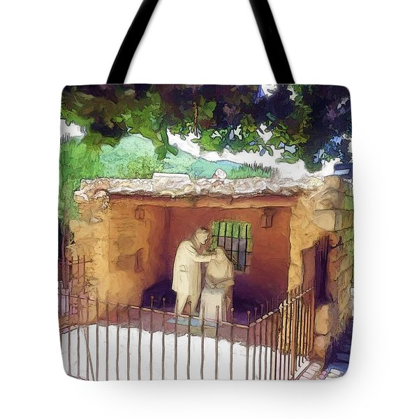 Do-00500 St Rafqa Statue Tote Bag by Digital Oil