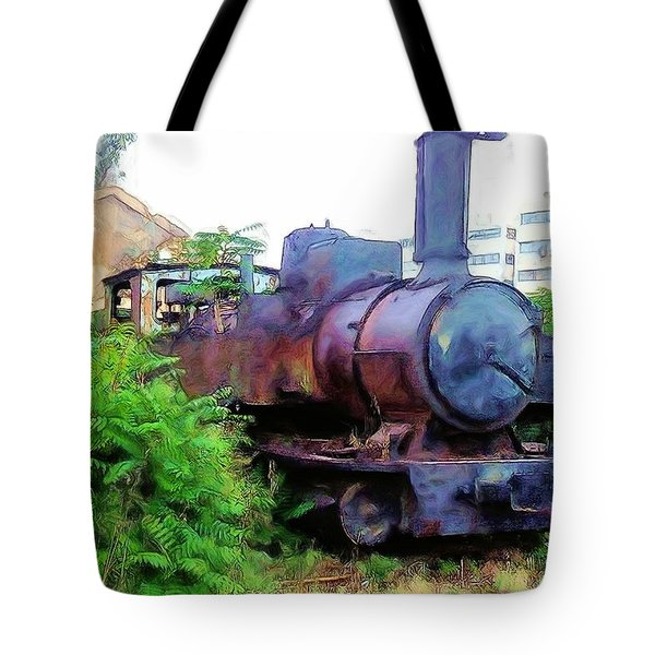Tote Bag featuring the photograph Do-00504 Train In Mar Mickael by Digital Oil