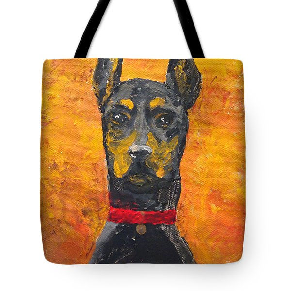 Dobie Girl Tote Bag by Veronica Zimmerman