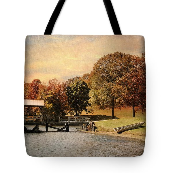 Dock For Two Tote Bag by Jai Johnson