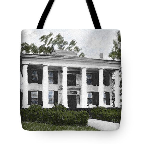 Dodd House Georgia Plantation Tote Bag by Lianne Schneider