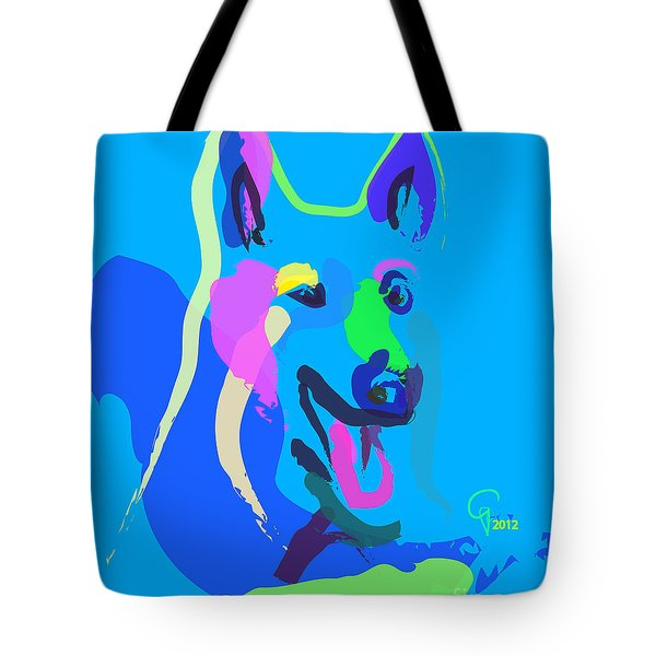 Dog - Colour Dog Tote Bag