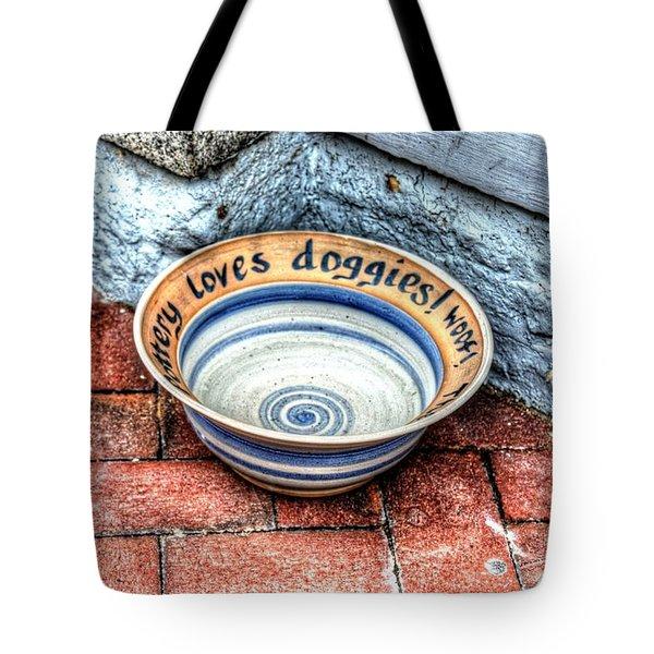 Doggie Dish Tote Bag by Debbi Granruth