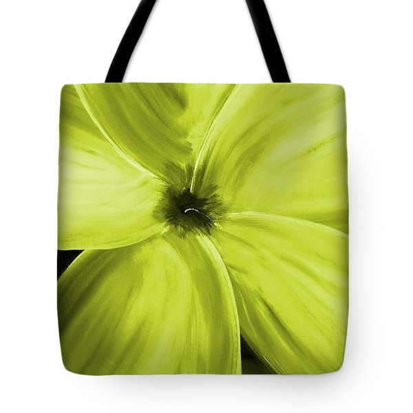 Dogwood Bloom Yellow Tote Bag by Mark Moore